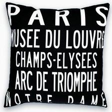 Paris Landmarks Throw Pillow
