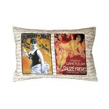 French Perfume Ads Throw Pillow