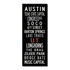 Austin Textual Art Giclee Printed on Canvas