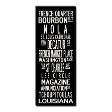 New Orleans Textual Art Giclee Printed on Canvas
