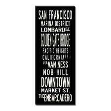 San Francisco Textual Art Giclee Printed on Canvas