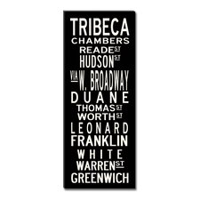 Tribeca Textual Art Giclee Printed on Canvas