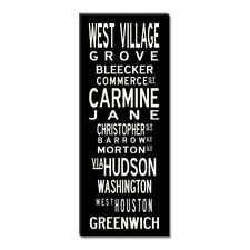 West Village Textual Art Giclee Printed on Canvas