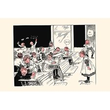 'When Teacher Leaves Room' by Clare Briggs Painting Print