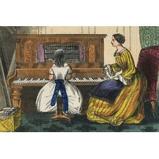 'Young Girl Play A Piano' by Charles Butler Painting Print