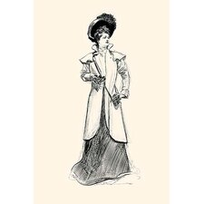 'Lady with Binoculars' by Charles Dana Gibson Painting Print