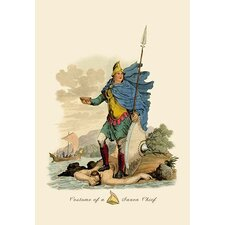 Costume of a Saxon Chief Painting Print