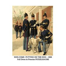 'Non-Coms Putting on the Dog' by Henry Alexander Ogden Painting Print