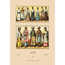 An Assortment of Asian Clothing by Auguste Racinet Painting Print