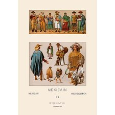 Clothing of Mexico by Auguste Racinet Painting Print
