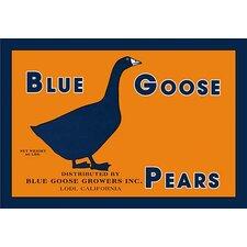 'Blue Goose Pears' Framed Vintage Advertisement