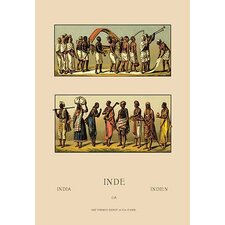 Traditional Indian Costume by Auguste Racinet Painting Print