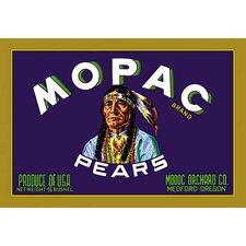 Mopac Brand Pears Framed Vintage Advertisement