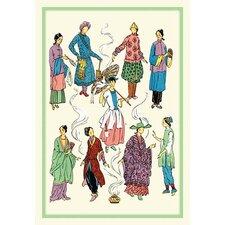 'Feminine Chinese Fashions' Painting Print