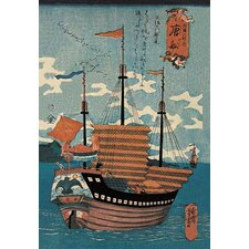 Chinese Ship Painting Print