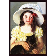 'Francoise with a Black Dog' by Mary Cassatt Painting Print