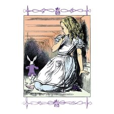 'Alice in Wonderland: Alice Watches the White Rabbit' by John Tenniel Painting Print