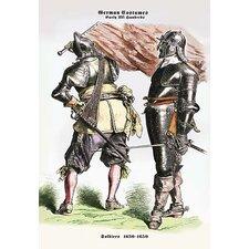 German Costumes: Soldiers Painting Print