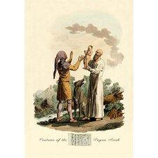 Costume of the Pagan Irish Painting Print