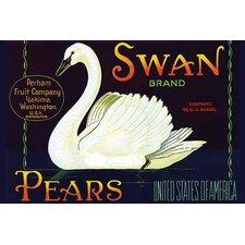 'Swan Brand Pears' Vintage Advertisement