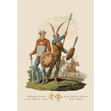 Military Costume of the Gothic Nations Painting Print