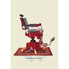 Hydraulic Barber's Chair Graphic Art on Canvas
