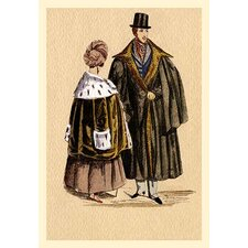 Couples in Furs Painting Print
