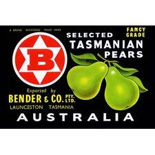 'Bender and Co. Selected Tasmanian Pears' Vintage Advertisement