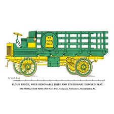 'Flour Truck w/ Removable Sides and Stationary Driver's Seat' Graphic Art
