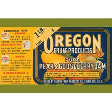 'Pure Pear and Gooseberry Jam' Vintage Advertisemen