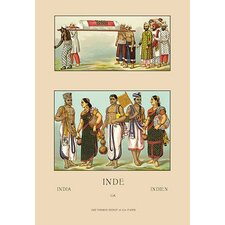 Colorful Costumes of India by Auguste Racinet Painting Print