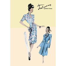 Flower Dress with Jacket Painting Print