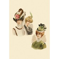 Rose and Fur Caps Painting Print