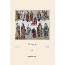 Roman Civil Costumes by Auguste Racinet Graphic Art