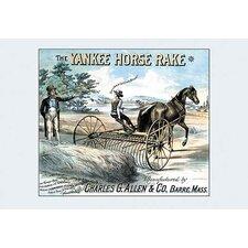 'The Yankee Horse Rake' Framed Vintage Advertisement
