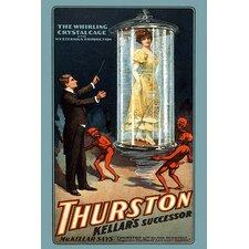 'The Whirling Crystal Cage Thurston Kellars Successor' by Strobridge Litho Vintage Advertisement