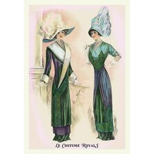 'Le Costume Royals: Ladies in Blue and Green' Print of Painting