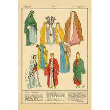 'Modern Egyptian Feminine Costume' by Racinet Vintage Advertisement