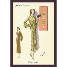 'Ruffled Autumn Dress and Overcoat' by Atelier Bachroitz Framed Painting Print