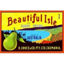 'Beautiful Isle Brand Fancy Pears' Vintage Advertisement
