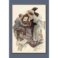 'Music Hath Charms' by Harrison Fisher Framed Painting Print