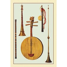 'Chinese and Japanese Instruments' by Theodore Thomas Graphic Art