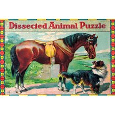 'Dissected Animal Puzzle' Vintage Advertisement