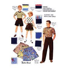 'Cool... Colorful... Comfortable Clothes for Boys and Girls' by Fashion Frocks Wall Art