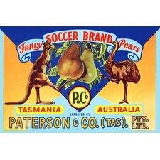 'Fancy Soccer Brand Pears' Vintage Advertisement