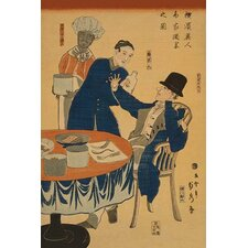 'Banquet at a foreign mercantile house in Yokohama by Sadahide Utagawa Painting Print