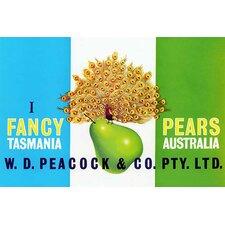 'Peacock Pears' Vintage Advertisement