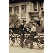 'Messenger Boys in Conversation at Union Square, N.Y. Location: New York, New York' Photographic Print