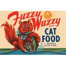 'Fuzzy Wuzzy Brand Cat Food' Vintage Advertisement