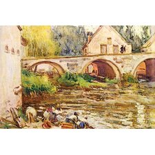 'The Laundresses by Moret' by Alfred Sisley Painting Print